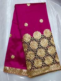 Piuttosto ricamo tessuto africano del merletto del George con paillettes solubile in acqua per il vestito da partito IG5-6 (iarde / lotto) cheap dress fabrics da tessuti abiti fornitori