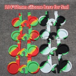 Wholesale E Cigarette 2pcs - wholesale 104*60mm silicone base for 5ml contain 2pcs 5ml silicone container E Cigarette Holder Colorful Vehicle Silicone E-Cigarettes Base