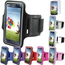 Wholesale Wholesale Galaxy Galaxys5 - Wholesale-New case For Samsung galaxy S5 i9600 Sport Running Armband Case For Galaxys5 s4 s3 Arm Band Case phone bags 1pc lot