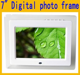 "Wholesale Movies Clock - 7"" 7 Inch HD LED Digital Photo Frame Acrylic Multimedia Digital Picture Frames Multifunction MP3 MP4 Movie 800x480 Support SD Card USB MMC"