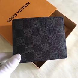 Wholesale Korean Designer Brands - 2017 Shipping famous designer brand leather wallet, men's short wallet fashion classic wallet and wallet box
