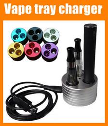 Wholesale Colorful Ego Usb - Luxury ego Vape tray charger Triple Holder with USB charger ego stand e-cigarettes holder colorful e-cig ego e cig stands holders FJ012