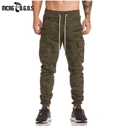 Wholesale Full Workout - Wholesale- 2017 asrv gyms pants bodybuilding clothing Men's gasp workout casual camouflage sweatpants joggers pants skinny trousers