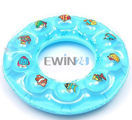 Wholesale Inflatable Blue Swimming Pools - New Baby Kids Inflatable Pool Swim Ring Seat Float Boat Swimming 4-7 Years Old Good Quality 120pcs