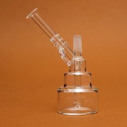 Wholesale Fancy Types - Hand Size fancy Water Smoking Pipe Pocket Glass Bong Percolator Mini Water Pipe 11CM High WP026
