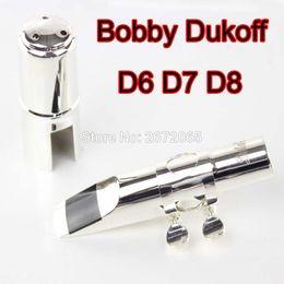 Wholesale Mouthpieces For Saxophone - Wholesale- Brand New Bobby Dukoff Metal Alto Saxophone Mouthpiece D6 D7 D8 Gold Silver