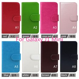 Wholesale Mini Flip Phones - For Wileyfox Swlft Storm Leather flip phone case for Samsung Galaxy J1 Mini cover inside with credit card slots