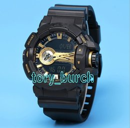 Wholesale Luxury Sporting Goods - AAA Good Quality luxury brand watch men G All pointer work GA400 Men sports watches LED light watch famous digital shock watches with Box