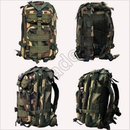Wholesale 30pcs CCA3495 High Quality L Hiking Camping Bag Military Tactical Trekking Rucksack Backpack Camouflage Molle Rucksacks Attack Backpacks