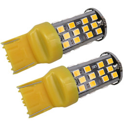 Wholesale Car Led 7443 - 12W White Red Amber Canbus 7440 7443 Car Led Bulb 2835 SMD Reverse Backup Brake Light Turn Signal Lamp Parking Lights