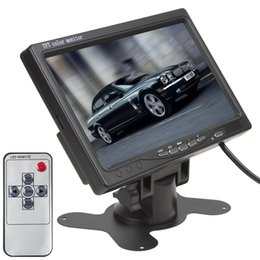 Wholesale Video Headrest - New arrive 7 Inch TFT LCD Color 2 Video Input Car RearView Headrest Monitor DVD VCR Monitor CMO_380