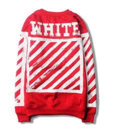 Wholesale Womens Red Pullover Hoodie - Warm hip hop off white hoodie sweatshirt women men hoodie fashion sweatshirts casual skateboard womens pullover hoodies for men