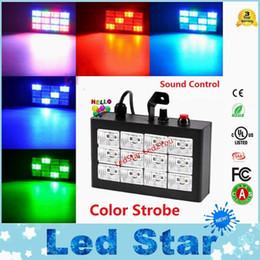 Wholesale Dj Flashing Lights - Brand New RGB   White Led Party Disco Lights 15W 24W 30W 96W Mini Strobe Stage Light DJ Flash KTV Laser Lighting Free Shipping