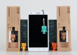 Wholesale Hot Line Phone - New hot sale Japanese anime figure PVC Cell phone line Mini Danboard Danbo Mobile phone pendant 3CM free shipping