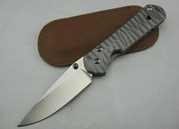 Wholesale Cr Tools - Chris Reeve. CR Dasha Classic 21 (corrugated titanium steel) stone wash blade pocket Knife Hunting Survival Tools Xmas gift knife 1pcs