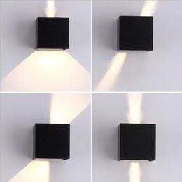 Luzes de parede ao ar livre branco on-line-IP65 impermeável ao ar livre conduziu o branco preto ajustável 7w ac85-265v do ângulo de feixe da luz da parede