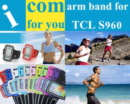Wholesale Tcl Idol X Wholesale - Wholesale-Sweatproof Soft Armband Running bag Sports Cover Gym Arm Band case for HTC Desire 616 610 TCL idol X+ S960 Coolpad 8297W