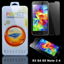 Wholesale Galaxy S4 Front Glass - For Galaxy S7 S6 S5 S4 J3 Note 5 4 G530 G360 Premium Tempered Glass Film Screen Protector Explosion Proof A5 J5 J7