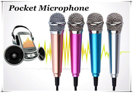 Wholesale Karaoke Laptop Microphone - Christmas Gift 3.5mm Pocket Small Metal Microphone For iPhone Samsung Android Mobile Laptop iPad PC High-Performance Wired Microphone