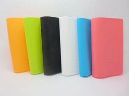 Wholesale Gel Charger - Great Quality 5200mAh 10400mAh XiaoMi PowerBank Protection cases Silica gel XIAOMI Charger Power Protection Cover by alibear