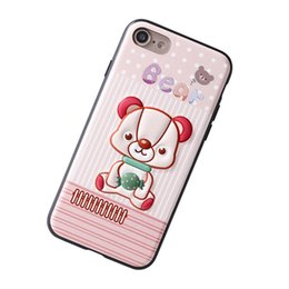 Wholesale Beard Iphone - Fashion Cartoon Cute Interestin Cat Beard Dog Rabbit little Girl Three-Dimensional Phone Shell iPhone7 Shatter-Resistant Soft Shell.