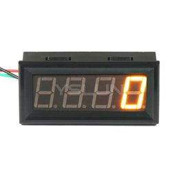 Wholesale Display Gauge - Wholesale-DC 7 ~ 30V Yellow LED Display 60~9999 rpm Tachometer DC 12V 24V Tacho Gauge High Accuracy Digital Speedometer