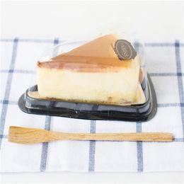 Wholesale Sandwiches Box - Cake Box Plastic Triangle Sandwich Packaging Cake Boxes Plastic Cake Packing Box Gift Bakery Cake Packaging 7.5*11.8*6.5 cm
