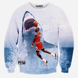 Wholesale Arriva Fashion - Wholesale-NEW arriva ! men's clothing fashion Autumn winter casual 3D sweatshirt basketball star printing sueter masculino