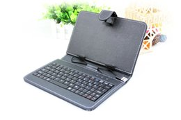 Wholesale Interface Tablet Pc - Micro USB Interface Leather Keyboard Case for 7 inch Universal Tablet PC Cover 6 color choices