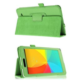 Wholesale Lg G Pad Leather Cover - S5Q PU Leather Tablet Stand Cover Luxury Slim Folio Cases For LG G Pad 7.0 V400 AAAEIK