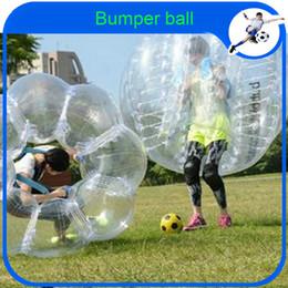 fútbol zorb inflable Rebajas Al por mayor-CE Dia 1.2m PVC bola de zorb de fútbol inflable de burbujas para niños, bola de parachoques inflable de hamster humano inflable Outdoor Fun Sports