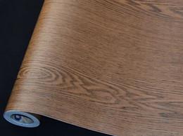 Wholesale Solid Wood Doors Wholesale - wood grain DW06 teak color waterproof kitchen home decor PVC adhesive wallpaper,door furniture,bedroom Wardrobe renovation wall stickers