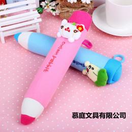 Wholesale Kawaii Key Hooks - Kawaii PEN Shape KEY HOOK School Kid's Plush Pen Pencil BAG Pouch Case Pack Pendant Storage Pouch Bag Case Coin Purse Wallet BAG 0737