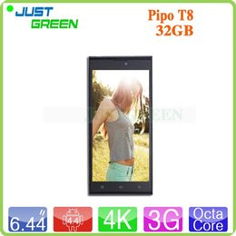 Wholesale Pipo Tablet Calling - Wholesale-Mini PIPO T8 MTK6592 3G octa core Andriod 4.4 phone call tablet PC 2GB RAM 32GB ROM 6.44 IPS 1920*1080 Camera 2.0+13MP HDMI
