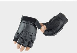 Wholesale Exercise Bicycles - Wholesale-GL13 Outdoor exercise tactical half finger hard sport gym Bicycle mountaineering gloves