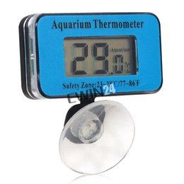 Wholesale Digital Hot Water Thermometer - Waterproof Digital LCD display Fish Aquarium Tank Water Thermometer Battery Power Sucker good quality popular hot sale
