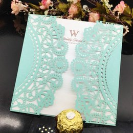 Wholesale Laser Cutting Patterns - Wholesale- 10 Pcs Wedding Invitation Laser Cut Wedding Party Invitation Card Delicate Carved Pattern Wedding Decor Supplies 7zSH185