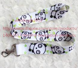 Wholesale Key Panda Free Shipping - Free shipping New Lot 10pcs Panda Phone Lanyard Key ID Neck Strap Cell Phone Straps & Charms Wholesale