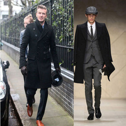 Wholesale Uk Standards - Hot New Fashion Slim Fit Men Casual Trench Coat Mens Long Winter Coats Mens Man Wool UK Style Outwear Overcoat Outerwear