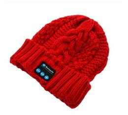 Wholesale Temperature Adults Free - 2015 NEW Winter Intelligent Music Knit Wool Cap Hat with a Temperature Bluetooth Headset Cap Music Bluetooth Hat