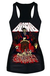 Wholesale Excite Woman - Hammer Slammer Exciting Game Print Women Vest LC25416 free shipping top summer women clothing