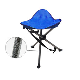 Fischstativ online-Camping Portable Folding Tripod Stool Outdoor Military Stool Chair Lightweight New Design for Fishing Travel Hiking Home Garden Beach