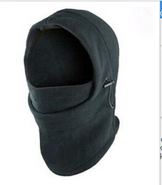 Wholesale Balaclava Hood Police - black grey 6 in 1 Thermal Fleece Balaclava Hood Police Swat Ski Bike Wind Stopper Face Mask #7166