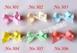 Wholesale Girl Mini Tiara - Free shipping hair accessories kids mix colors Girls Boutique mini hair clips wreath bows bowknot clip 50 pcs FJ3212