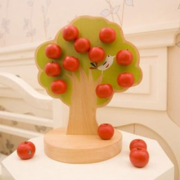 Wholesale Play Magnets - Wholesale-Free shipping,Apple tree magnet educational baby toy kitchen mother garden pretend play fruit magnetism toys kitchen Toy M5