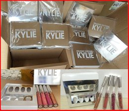 Wholesale Christmas Gift Set Ideas - Newest Kylie Holiday Edition Kit 4pcs Matte kylie jenner Liquid lipgloss Collection Set For Christmas Gift from idea free shipping