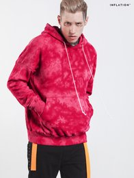 Wholesale Men Casual Belts Best Brands - Best Quality New Brand Men's Pink Tie-dyed Hoodies Fashion Oversized Men Hoodie Casual O-Neck Hooded Hoodies Loose Man Basic Pullover