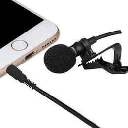 Wholesale Ipad Microphone - 3.5mm TRRS Jack Omnidirectional Lapel Clip-on Omnidirectional Condenser Microphone Lapel Microphone Mic for iPhone iPad iPod Smartphones