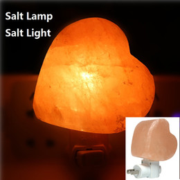 Wholesale Crystal Room Decor - Salt lamp table desk Lamp night light pyramid Crystal Rock natural shape himalayan salt Lamp for Bedroom Adornment Home Room Decor Crafts