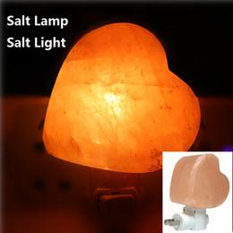 Wholesale Crystal Table Lights - Salt lamp table desk Lamp night light pyramid Crystal Rock natural shape himalayan salt Lamp for Bedroom Adornment Home Room Decor Crafts